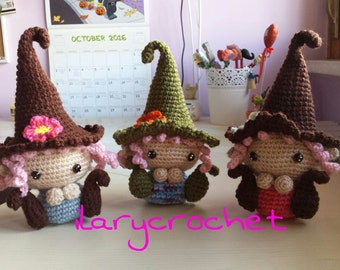 Colorful crochet gnomette