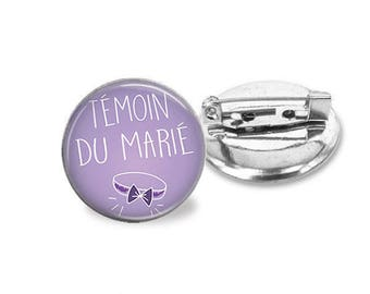 1 pin wedding best man _ customizable color family invited @2