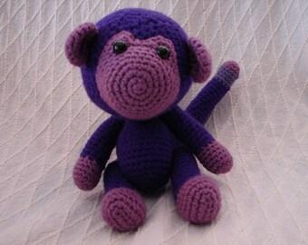 Purple Monkey Amigurumi Toy **FREE SHIPPING**