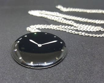 Timeless Midnight Face Time Pendant