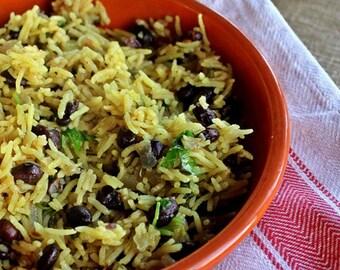 Rice Salad with eggplants