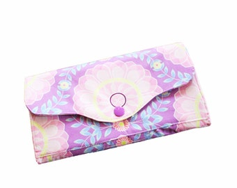 Ladies purse, wallet, wallet, purple