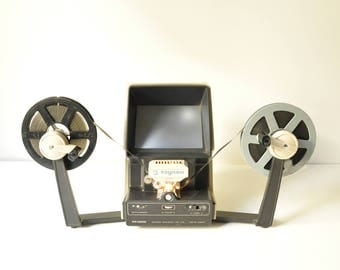 Vintage Raynox RS-3000 Film Editor Viewer with LPL Cement Splicer for 8/16mm or Super 8