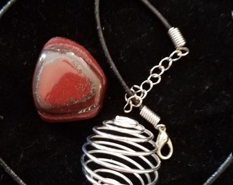 Red Tigers eye Gem neclace
