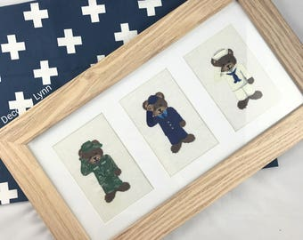 Service Men, Nursery Decor, Boys room art