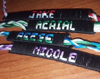 Friendship Name Bracelets