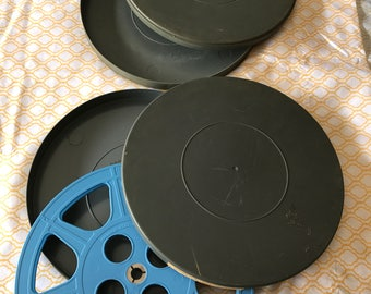 Vintage Plastic Film Reel And Plastic Case