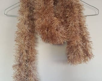 Caramel ladies scarf handmade