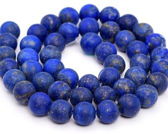 """4MM Matte Lapis Lazuli Natural Gemstone Full Strand Round Loose Beads 15"""" (101156-325)"""