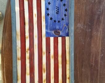 Custom Rustic American Flag 1776