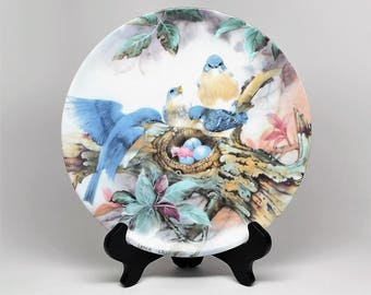Lena Liu SONG OF PROMISE ~ Lena Liu Collector Plates ~ Lena Liu ~ Nature's Poetry Series ~ Lena Liu Song of Promise Plate ~ Collector Plates