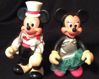Vintage Mickey & Minnie Mouse All Dressed Up