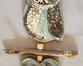 Door sign, owl, with your own text
