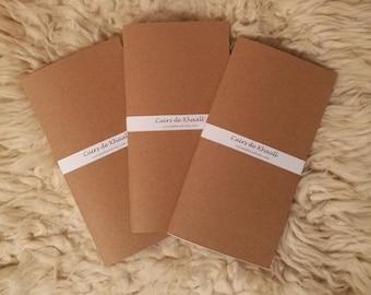 (Refills) notebooks Khaalldori Traveler's Notebook / Kraft cover