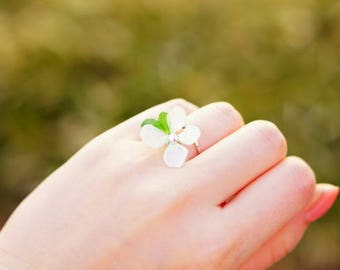 Spring, Real flower ring, Preserved flower ring, Ring, Real flower jewelry