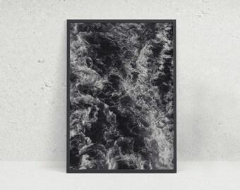 Black Sea B&W Black and White Photographic Wall Art Print