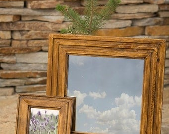 Wooden frame and mirror