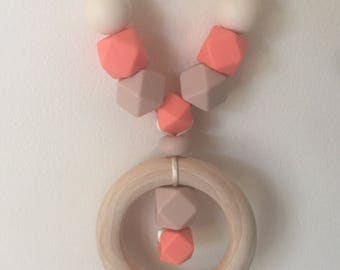Silicone Mummy necklace with Timber pendant