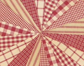 Rustic Red Ragged Homespun Quilt Kit