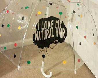 I Love My Natural Hair Umbrella