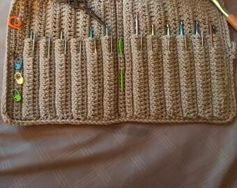 Crochet hook and supply holder