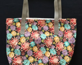 Chrysanthemums tote bag