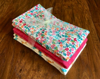 Cloth Diaper, Prefold Diaper w/ Microfiber, Reusable Diaper, Burp Cloth, Trifold Microfiber Soaker Booster, Baby Branch Boutique