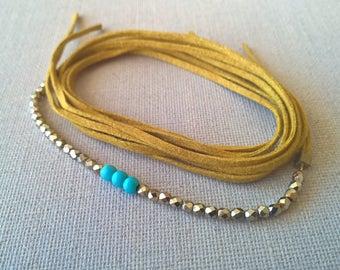 Bracelet link minimalist tie beads