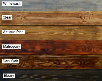 Wood Stain and finish samples