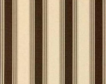 Chocolate Brown Accord Stripe Fabric by Premier Prints no.149