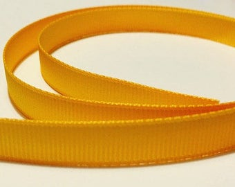 "Golden Yellow 3/8"" Grosgrain Ribbon"