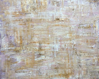 Wisteria - Original Abstract Painting in Earthy Tones Using Acrylic and Oil Paints on Canvas