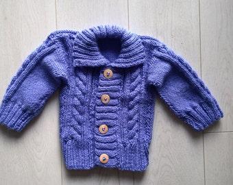 Blue & Purple Blend Baby Cardigan