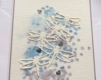 Dragonfly water colour Blank card