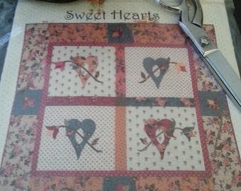 Heart Wallhanging Quilt Stitchery paper pattern