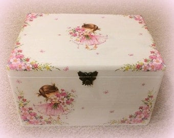 "Memory or toy chest ""Little Pink Girl"""