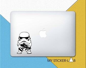 MacBook Decal Star Wars MacBook Sticker Star Wars Laptop Sticker Star Wars Decal Laptop Decal Storm Trooper MacBook Pro Decal Chibi bn048