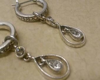 Vintage Zarina Stardust pear drop earrings