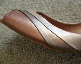 Jones Quality Peep Toe Shoes size 40 (7 uk )