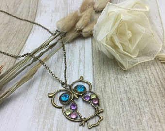 a handmade owl necklace ( It's long)