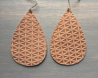 Mauvelous Leather Earrings