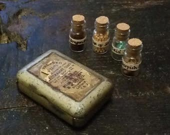 Pocket Potion Kit in Antique Pill Tin