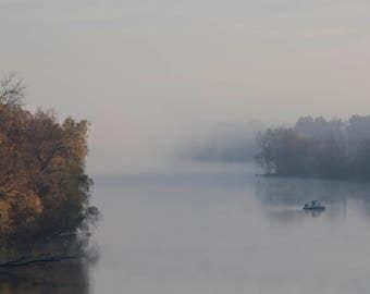 Misty Morning River Run