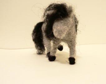 Needle felted animal, horse, icelandic horse