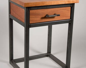 Reclaimed Industrial Chic Bed Side Desk Table Hand Made