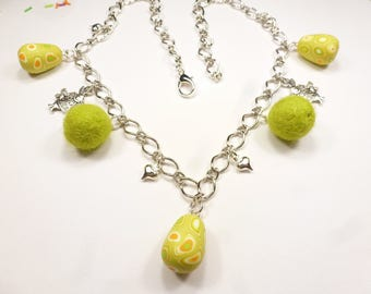 mother's Necklace in fimo gift Easter egg
