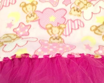 Dramatic and Dreamy Embellished Fleece Teddy Bear Diva Blanket