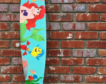 Disney little mermaid acrylic longboard
