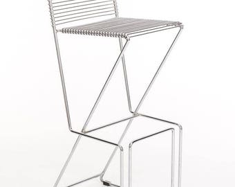 Wire chrome bar stool - Vintage