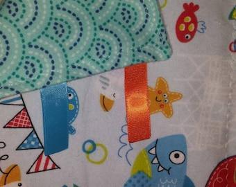 Soft Flannel Sensory Ribbon Blanket